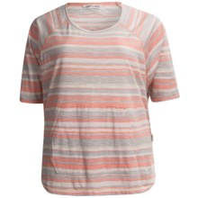 Woolrich Passing Trails Shirt - Short Sleeve (For Women) in Peachtree Stripe - Closeouts