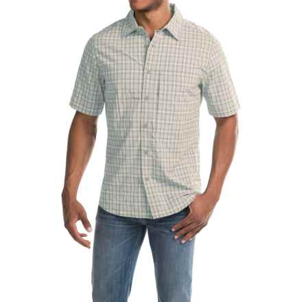 Woolrich Path Point Plaid Shirt - UPF 30+, Short Sleeve (For Men) in Costal Grey - Closeouts