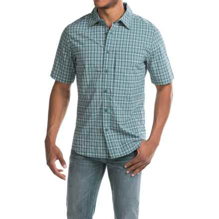 Woolrich Path Point Plaid Shirt - UPF 30+, Short Sleeve (For Men) in Nordic Blue - Closeouts