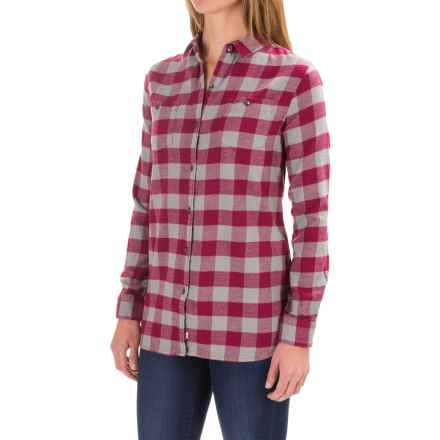 Woolrich Pemberton Buffalo Check Flannel Shirt - Long Sleeve (For Women) in Wild Raspberry Check - Closeouts