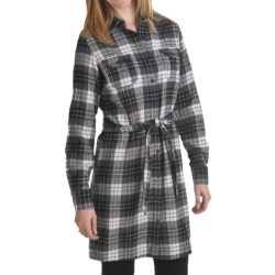 Woolrich Pemberton Flannel Dress - Long Sleeve (For Women) in Charcoal