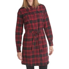 Woolrich Pemberton Flannel Dress - Long Sleeve (For Women) in Heirloom Red - Closeouts