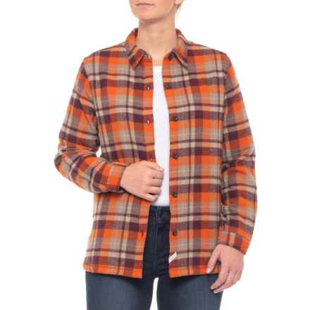 Woolrich Pemberton Flannel Shirt Jacket - Insulated (For Women) in Wine Plaid - Closeouts
