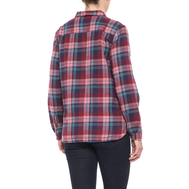 Woolrich Pemberton Flannel Shirt Jacket - Insulated (For Women) e6fa778f8