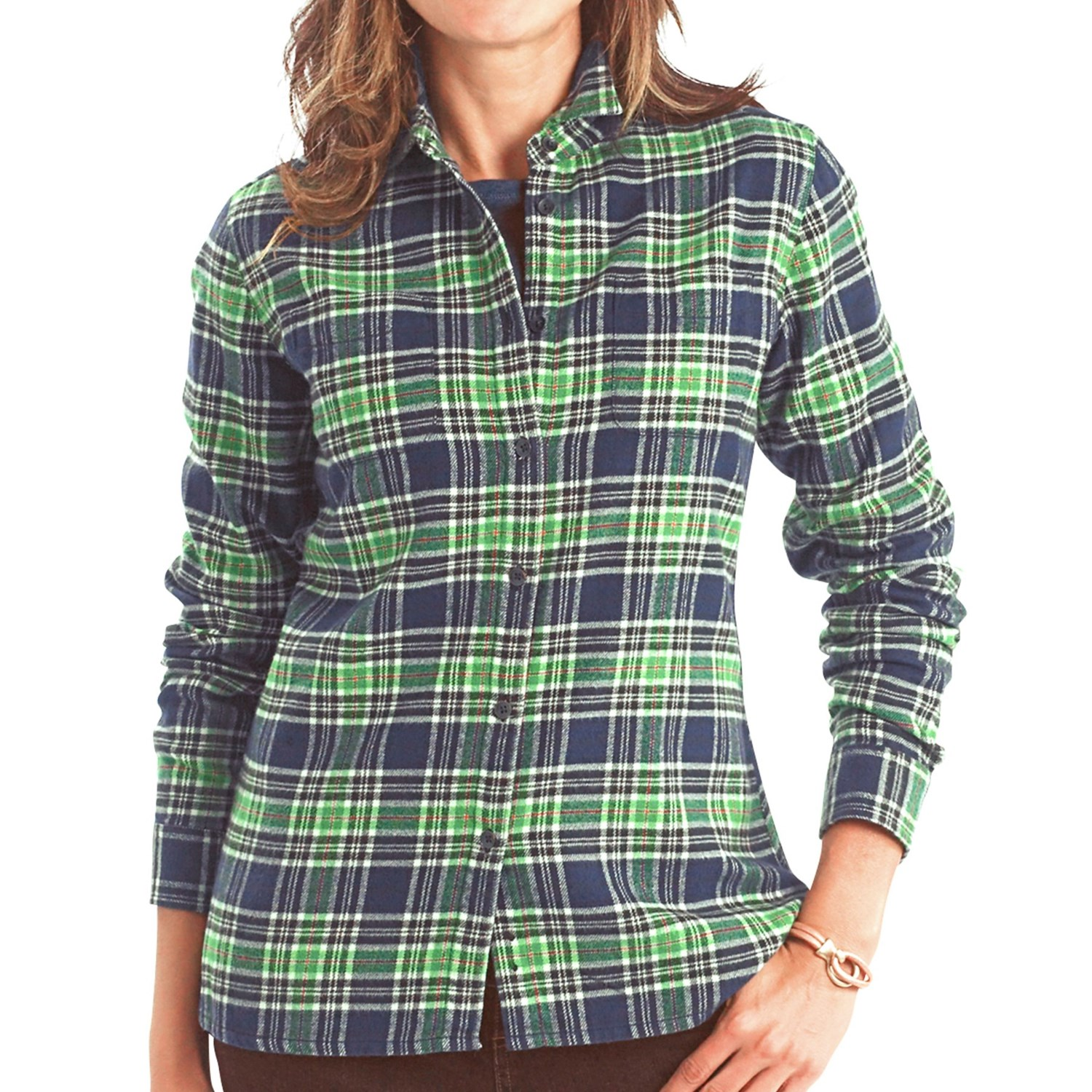Woolrich pemberton flannel shirt long sleeve for women for Girl in flannel shirt