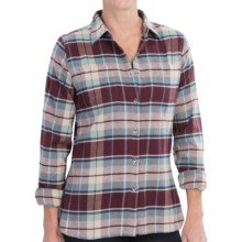 Woolrich Pemberton Flannel Shirt - Long Sleeve (For Women) in Fig - Closeouts