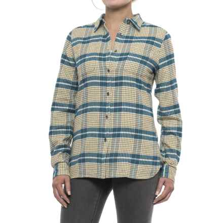 Woolrich Pemberton Flannel Shirt - Long Sleeve (For Women) in Mineral Blue - Closeouts