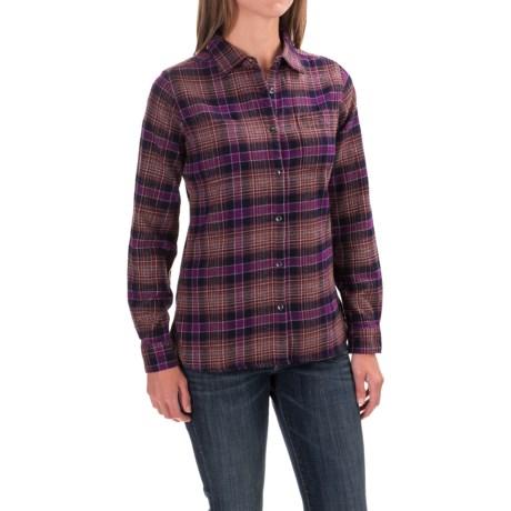 Woolrich Pemberton Flannel Shirt - Long Sleeve (For Women) in Wisteria