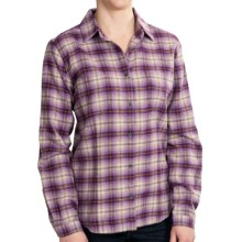Woolrich Pemberton II Cotton Flannel Shirt - Long Sleeve (For Women) in Eggplant Multi - Closeouts