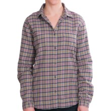 Woolrich Pemberton II Cotton Flannel Shirt - Long Sleeve (For Women) in Shale - Closeouts