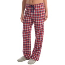 Woolrich Pemberton Pajama Bottoms - Flannel (For Women) in Cherry Red Buffalo Check - Closeouts