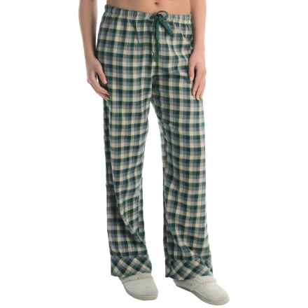 Woolrich Pemberton Pajama Bottoms - Flannel (For Women) in Pacific Teal Buffalo Check - Closeouts