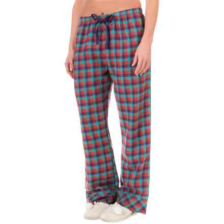 Woolrich Pemberton Pajama Bottoms - Flannel (For Women) in Sea Green Buffalo Check - Closeouts
