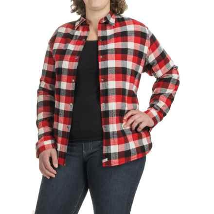 Woolrich Pemberton Shirt Jacket - Fleece Lined (For Women) in Old Red Buffalo - Closeouts