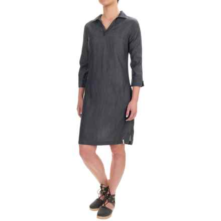 Woolrich Pendulum Denim Dress - 3/4 Sleeve (For Women) in Rinse - Closeouts