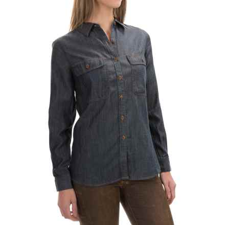 Woolrich Pendulum Denim Shirt - Long Sleeve (For Women) in Rinse - Closeouts