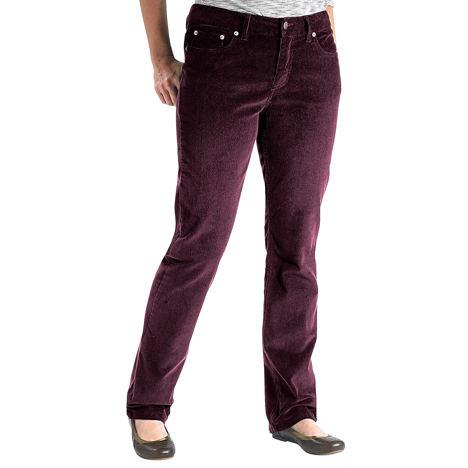 Luxury JAG Carla Corduroy Pants  Low Rise Bootcut For Women  Save 46