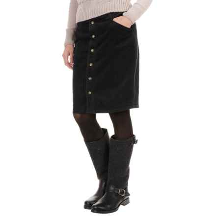 Woolrich Penns Wood Corduroy Skirt (For Women) in Black - Closeouts