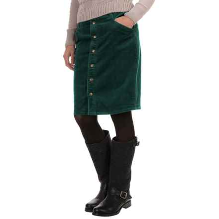 Woolrich Penns Wood Corduroy Skirt (For Women) in Pacific Teal - Closeouts