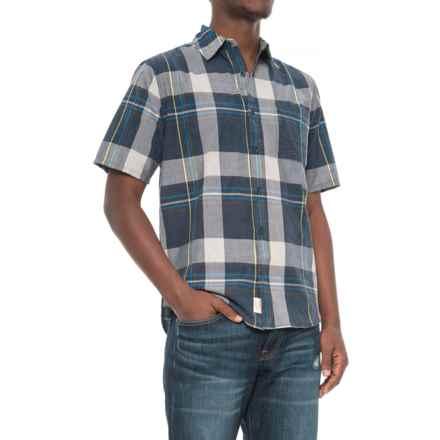 Woolrich Pepper Creek Shirt - Short Sleeve (For Men) in Deep Indigo - Closeouts