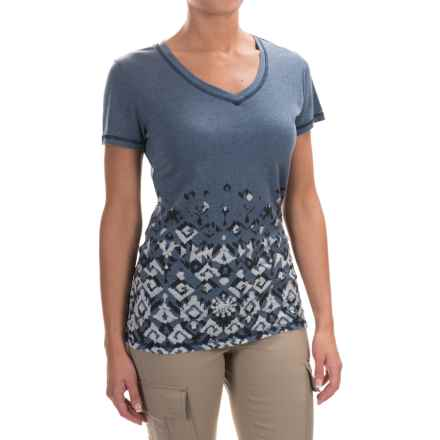 Woolrich Pinchot Burnout T-Shirt - Rounded V-Neck, Short Sleeve (For Women) in Deep Indigo - Closeouts
