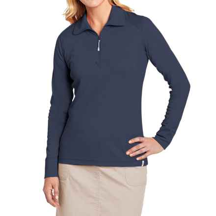Woolrich Pinchot Trail Shirt -  Zip Neck, Long Sleeve (For Women) in Deep Indigo - Closeouts