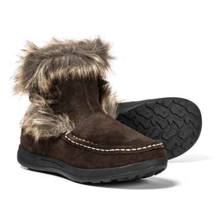 Woolrich Pine Creek II Boots - Suede (For Women) in Chocolate/Kendall Creek - Closeouts