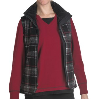 Woolrich Pine Creek Plaid Vest - Wool (For Women) in Charcoal