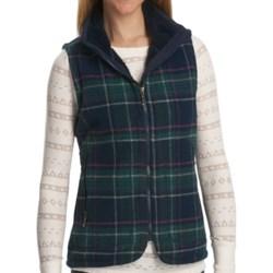 Woolrich Pine Creek Plaid Vest - Wool (For Women) in Deep Indigo