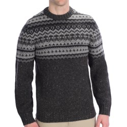Woolrich Pine Ridge Crew Neck Sweater - Wool, Long Sleeve (For Men) in Onyx