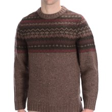 Woolrich Pine Ridge Crew Neck Sweater - Wool, Long Sleeve (For Men) in Wood - Closeouts