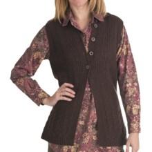 Woolrich Pine Ridge Sweater Vest - Lambswool, Button Front (For Women) in Dark Roast - Closeouts