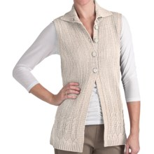 Woolrich Pine Ridge Sweater Vest - Lambswool, Button Front (For Women) in Stone - Closeouts
