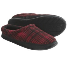 Woolrich Pinewood Slippers - Fleece (For Men) in Red/Black Plaid - Closeouts