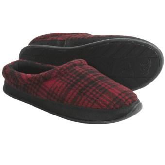 Woolrich Pinewood Slippers - Fleece (For Men) in Red/Black Plaid