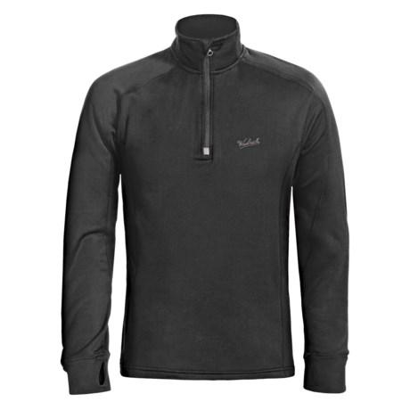 Woolrich Pinyon Fleece Shirt - Zip Neck, Long Raglan Sleeve (For Men) in Black