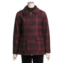 Woolrich Pioneer Coat - Insulated, Oversized Collar (For Women) in Ruby Plaid - Closeouts
