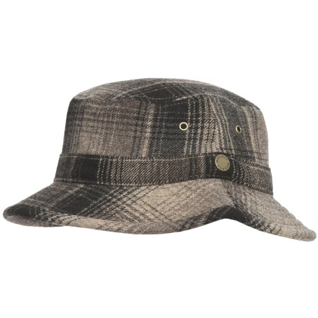 Woolrich Plaid Bucket Hat - Wool (For Men and Women) in Black