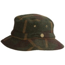 Woolrich Plaid Bucket Hat - Wool (For Men and Women) in Green - Closeouts