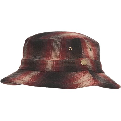 Woolrich Plaid Bucket Hat - Wool (For Men and Women) in Red