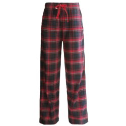 Woolrich Plaid Flannel Pajama Bottoms (For Women) in Black
