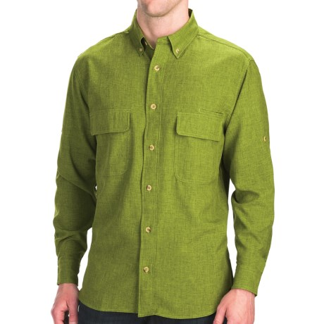 Woolrich Pleasant Springs Shirt - UPF 30+, Long Sleeve (For Men) in Pesto