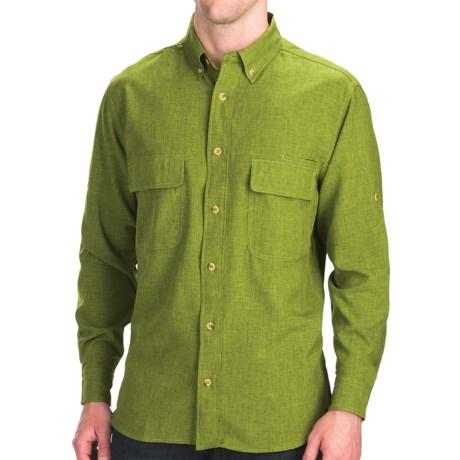 Woolrich Pleasant Springs Shirt - UPF 30+, Long Sleeve (For Men) in Pesto