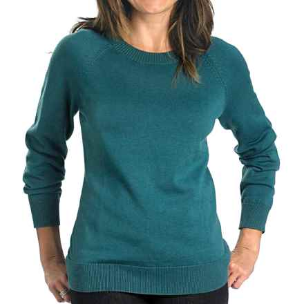 Woolrich Plum Run Crew Sweater (For Women) in Mineral Blue - Closeouts