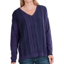 Woolrich Plum Run Sweater - V-Neck (For Women) in Amethyst - Closeouts