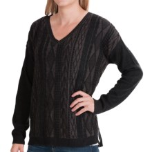 Woolrich Plum Run Sweater - V-Neck (For Women) in Black - Closeouts