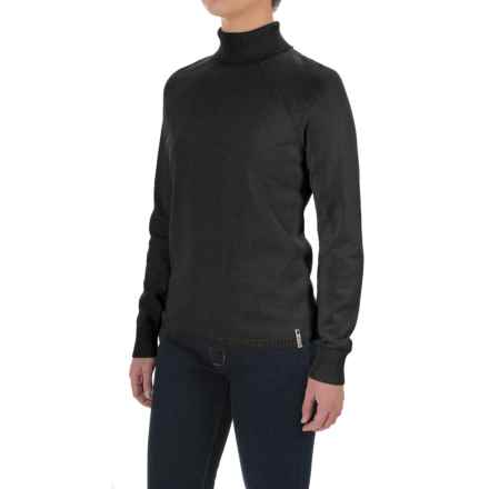 Woolrich Plum Run Turtleneck Sweater (For Women) in Black - Closeouts