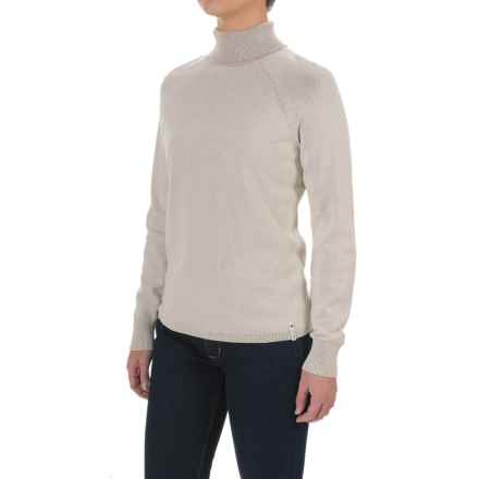 Woolrich Plum Run Turtleneck Sweater (For Women) in Ecru - Closeouts