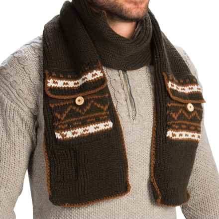 Woolrich Pocket Scarf (For Men) in Wood - Closeouts