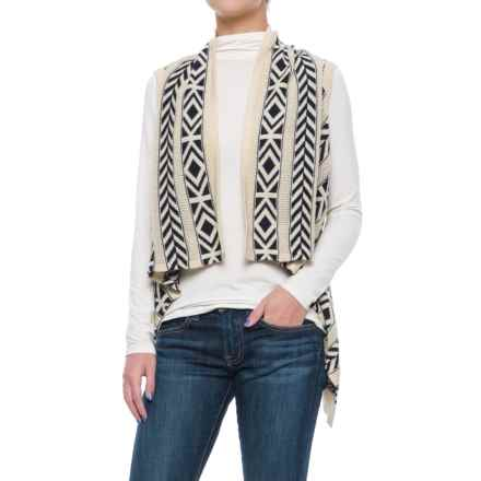 Woolrich Ponsford Cardigan Sweater Vest (For Women) in Navy Multi - Closeouts